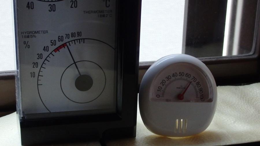 100均ダイソーの湿度計