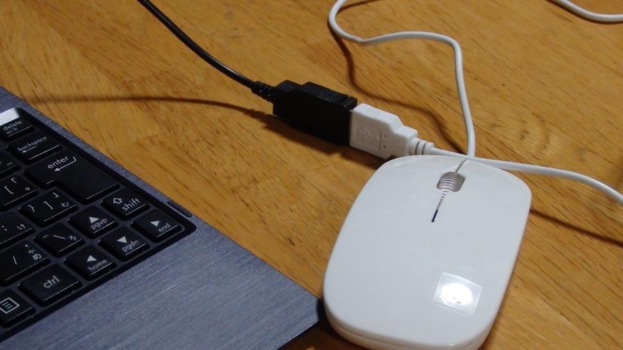 鼠じゃないよマウスだよ。ダイソーのUSBマウス(300円商品)を買ってみた