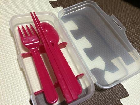 アウトドアや持ち運びに便利なケース付箸スプーンフォークセット