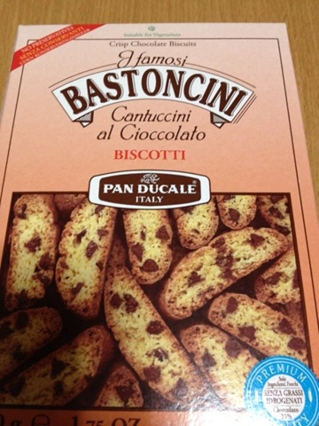ダイソー輸入菓子、チョコチップビスコッティ「BASTONCINI」を食す