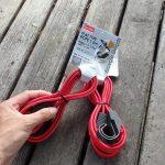 バイクの荷造りに役立つ平型ロープ、購入店はダイソー。なかなか使える!と僕のなかで話題です。