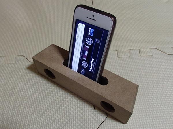 スマートフォン用木製スピーカー1