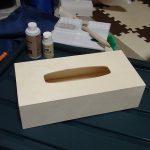 セリアの木製ティッシュケースをアンティーク調にリメイクしてみた