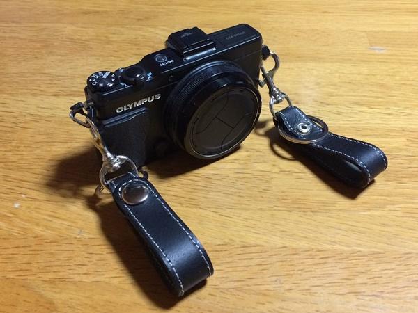 牛革キーホルダーを使ってカメラ用ネックストラップを自作した