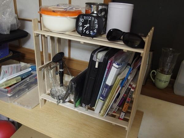 ダイソーのすのこで作った本棚