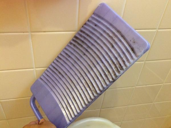 洗濯板のカビ