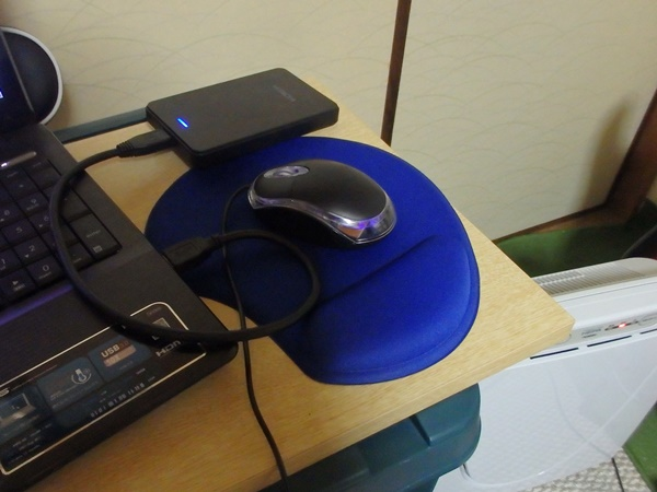 ダイソーのハンドレスト付マウスパッド2