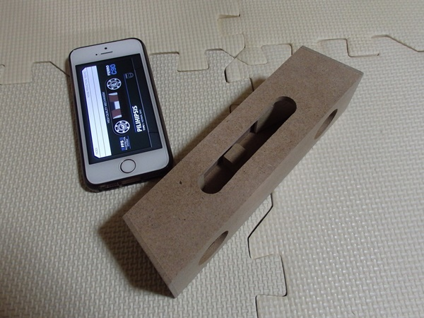 スマートフォン用木製スピーカー2