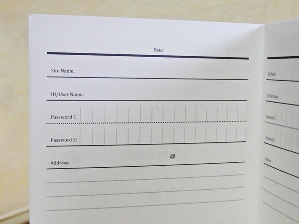 パスワード管理帳2